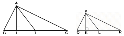 two similar triangles