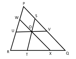 similarity parallel lines inside triangle