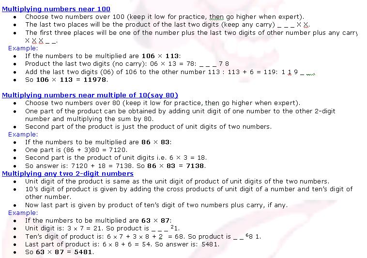 Calculation Techniques