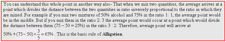 averages and Alligation